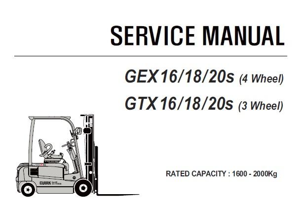 Clark GEX 16 / 18 / 20s (4 Wheel) & GTX 16 / 18 / 20s (3