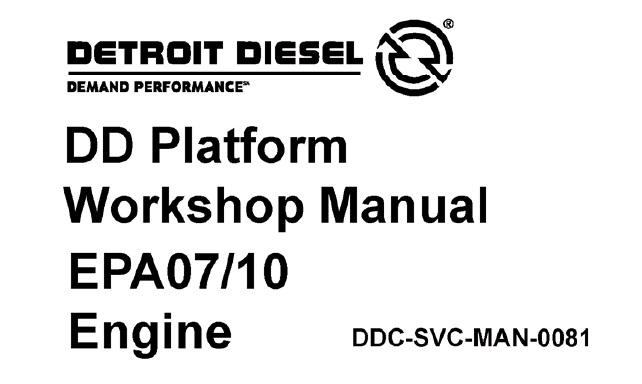 Detroit DD13 , DD15 , DD16 Diesel Engines Service Repair