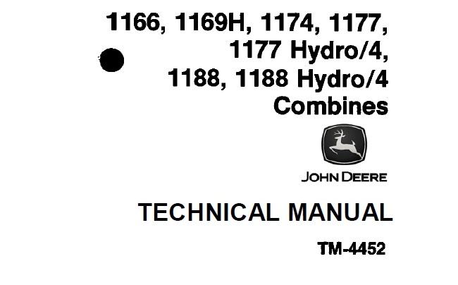 John Deere 1166, 1169H, 1174, 1177, 1177 Hydro/4, 1188