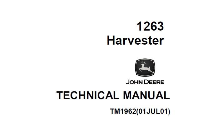 John Deere 1263 Harvester Technical Manual (TM1962