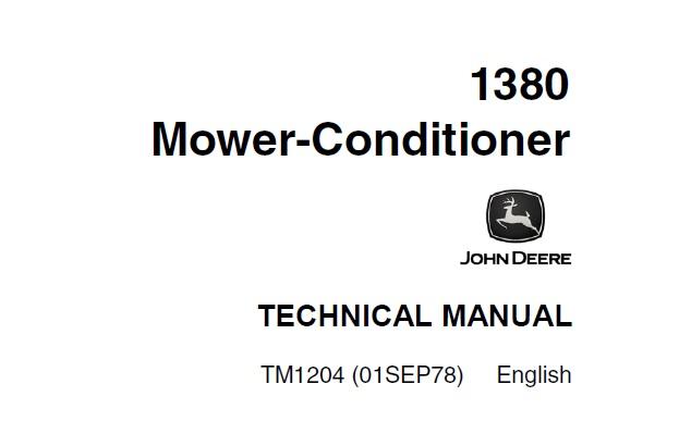 John Deere 1380 Mower