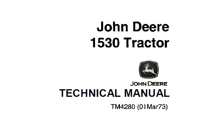 John Deere 1530 Tractor Technical Manual (TM4280