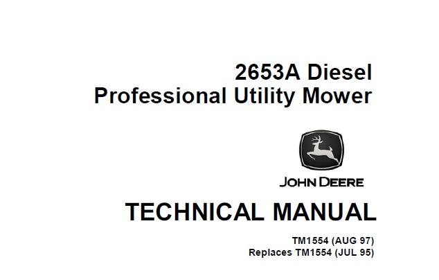 John Deere 2653A Diesel Professional Utility Mower