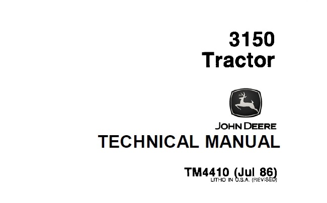 John Deere 3150 Tractor Technical Manual (TM4410