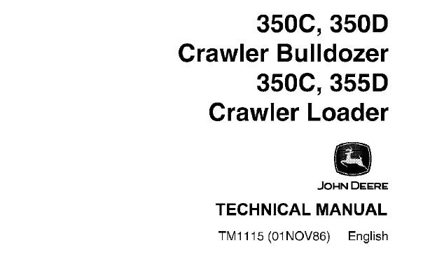 John Deere 350C, 350D Crawler Bulldozer & 350C, 355D