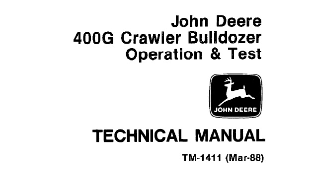 John Deere 400G Crawler Bulldozer Operation and Test