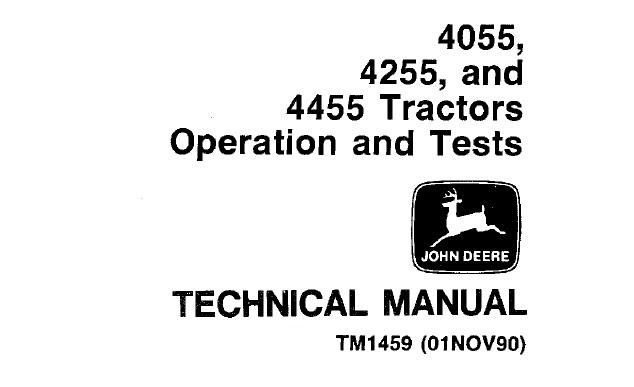John Deere 4055, 4255, 4455 Tractors Operation & Tests