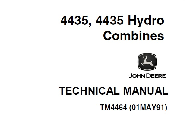 John Deere 4435, 4435 Hydro Combines Technical Manual