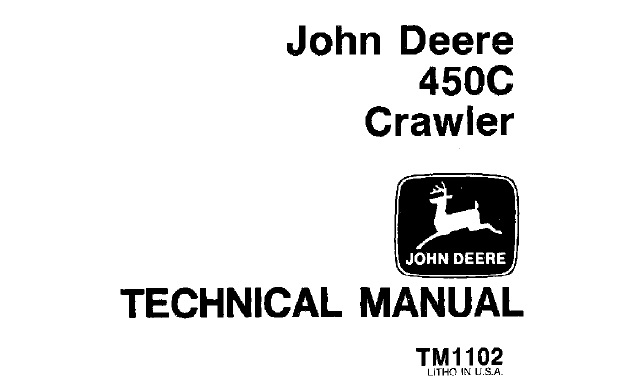 John Deere 450C Crawler Technical Manual (TM1102