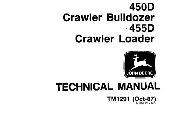 John Deere 450D Crawler Bulldozer, 455D Crawler Loader