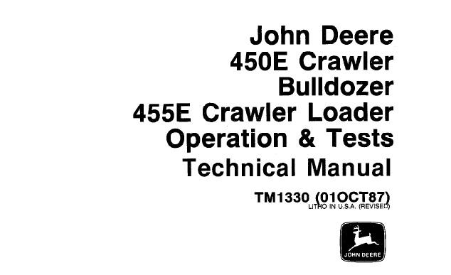 John Deere 450E Crawler Bulldozer, 455E Crawler Loader