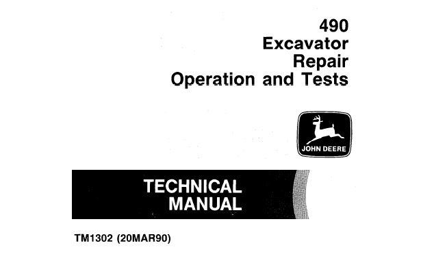 John Deere 490 Excavator Repair, Operation and Tests