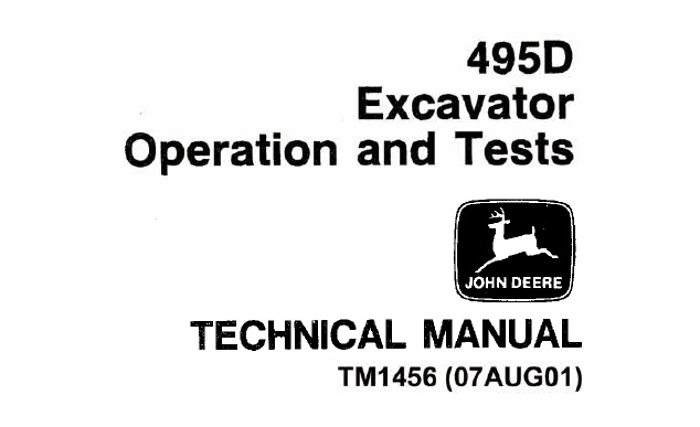 John Deere 495D Excavator Operation and Tests Technical