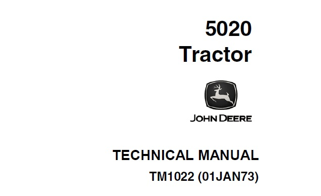 John Deere 5020 Tractor Technical Manual (TM1022