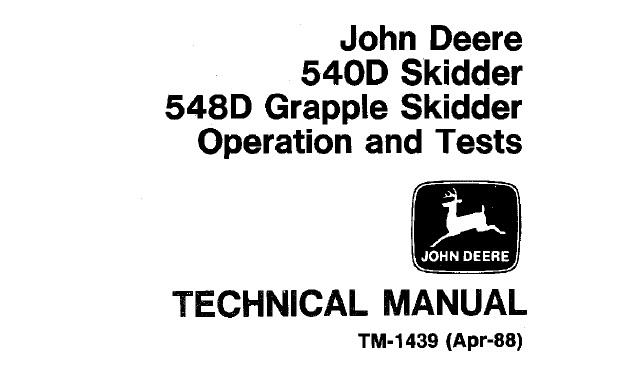 John Deere 540D Skidder, 548D Grapple Skidder Operation