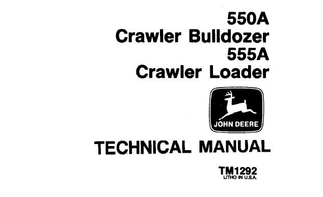 John Deere 550A Crawler Bulldozer, 555A Crawler Loader