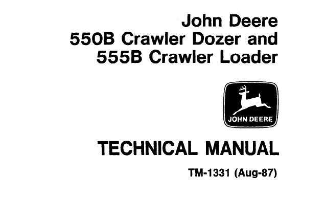 John Deere 550B Crawler Dozer, 555B Crawler Loader