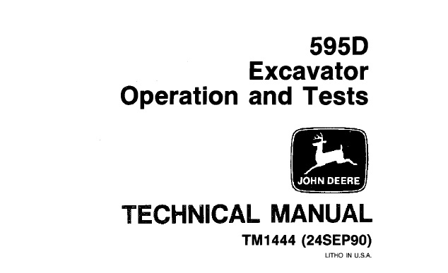 John Deere 595D Excavator Operation and Tests Technical