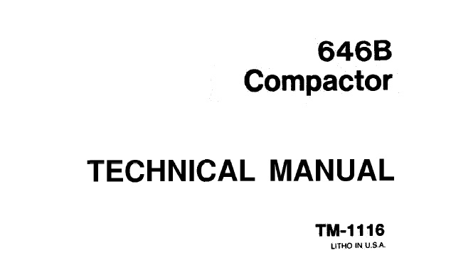 John Deere 646B Compactor Technical Manual (TM1116