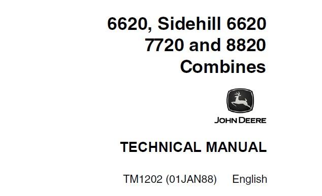 John Deere 6620, Sidehill 6620 , 7720 & 8820 Combines