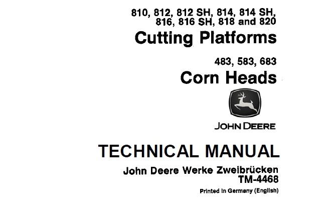 John Deere 810, 812, 812SH, 814, 814SH, 816, 816SH, 818