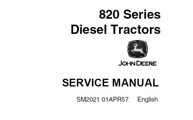 John Deere 820 Series Diesel Tractor (2 Cylinder) Service