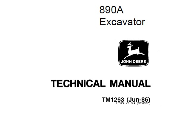 John Deere 890A Excavator Technical Manual (TM1263