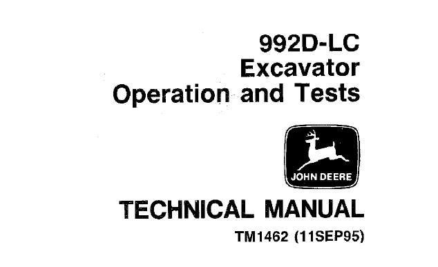 John Deere 992D-LC Excavator Operation and Tests Technical