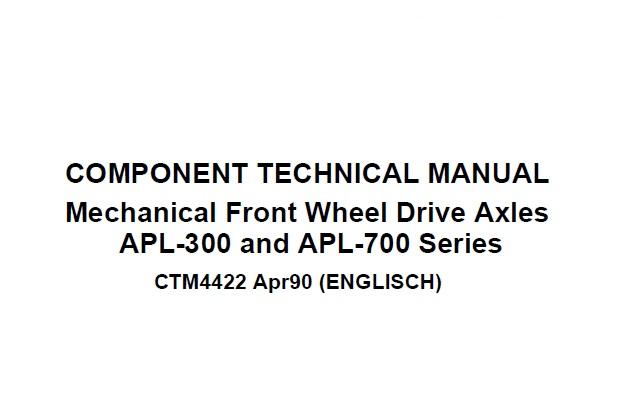 John Deere APL-300 and APL-700 Series Mechanical Front