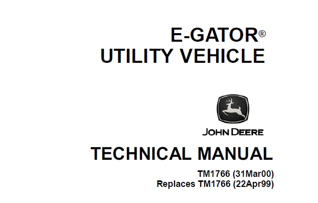 John Deere E-Gator Utility Vehicle Technical Manual