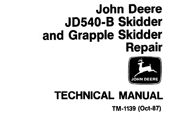 John Deere JD540-B Skidder & Grapple Skidder Repair