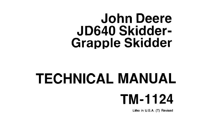 John Deere JD640 Skidder