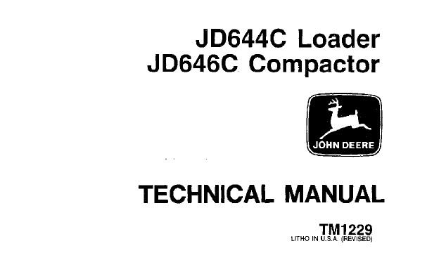 John Deere JD644C Loader, JD646C Compactor Technical