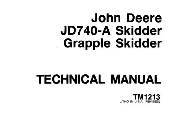 John Deere JD740-A Skidder & JD740-A Grapple Skidder