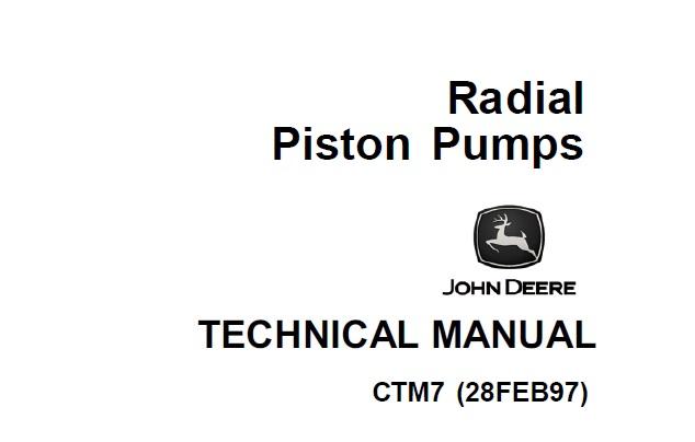 John Deere Radial Piston Pumps Component Technical Manual