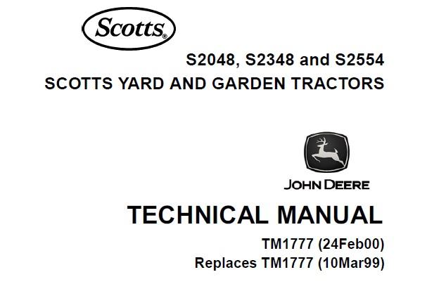 John Deere S2048, S2348, S2554 Scotts Yard & Garden