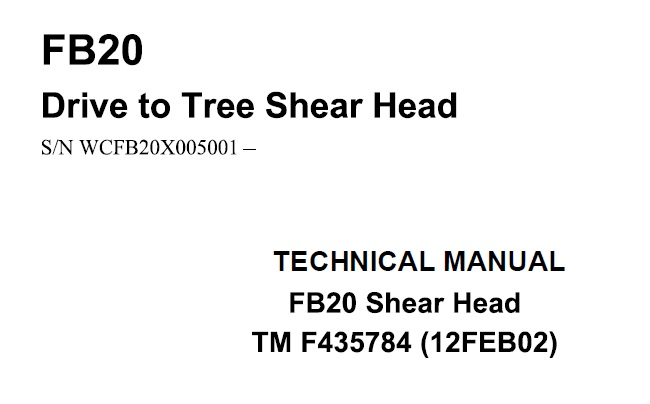 John Deere Timberjack FB20 Drive to Tree Felling Head