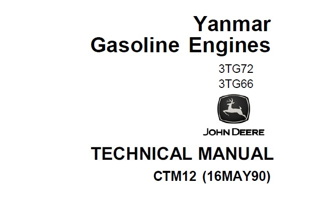 Yanmar 3TG66, 3TG72 Gasoline Engines Technical Manual