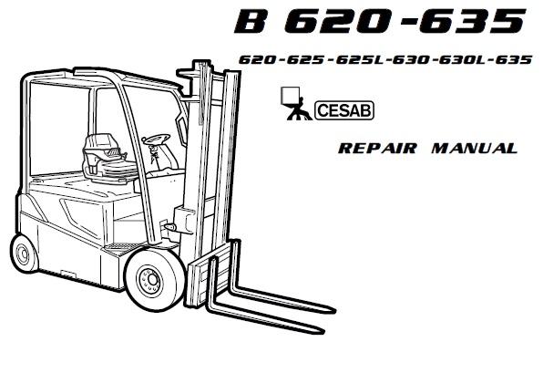 Cesab B620, B625, B250L, B630, B630L, B635 Forklift