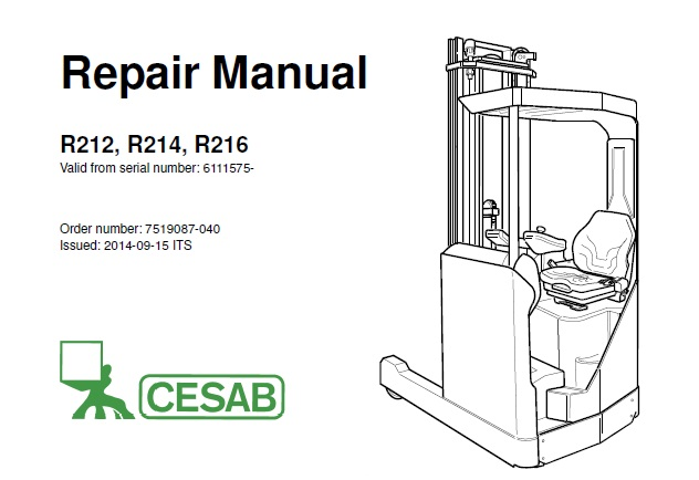 Cesab R212, R214, R216 Forklift Service Repair Manual