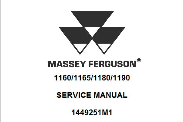 Massey Ferguson 1160, 1165, 1180, 1190 Tractor Service