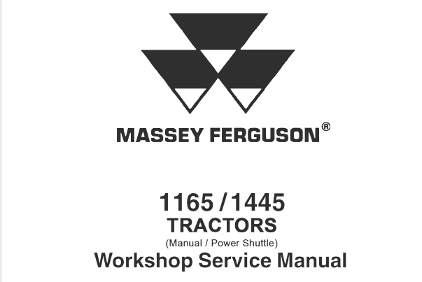 Massey Ferguson 1165 / 1445 (Manual / Power Shuttle