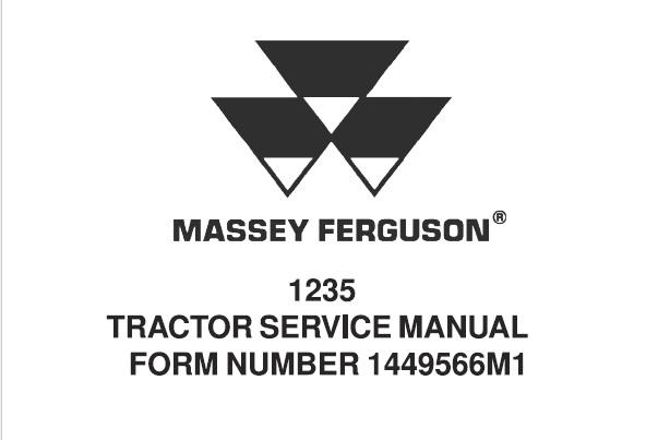 Massey Ferguson 1235 Tractor Service Repair Manual