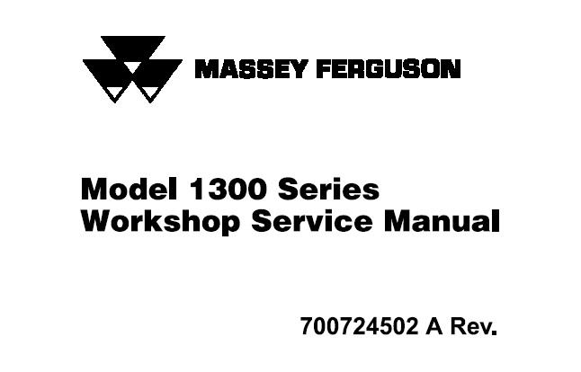 Massey Ferguson 1306, 1307, 1308, 1309, 1310 Disc Mower