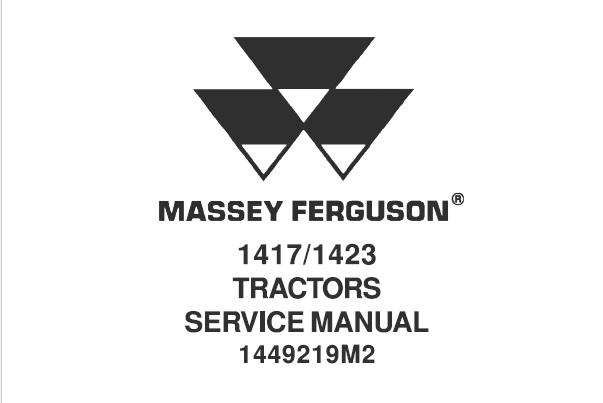 Massey Ferguson 1417 / 1423 Tractors Service Repair Manual