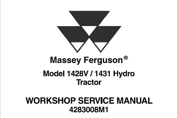 Massey Ferguson 1428V / 1431 Hydro Tractors Service Repair