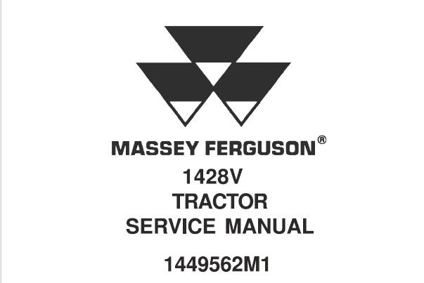 Massey Ferguson 1428V Tractor Service Repair Manual