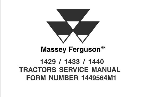 Massey Ferguson 1429 / 1433 / 1440 Tractors Service Repair