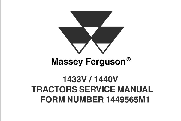 Massey Ferguson 1433V / 1440V Tractors Service Repair