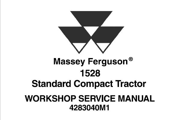 Massey Ferguson 1528 Standard Compact Tractor Service